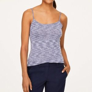 Loft Blue Marled Scoop Neck Cami
